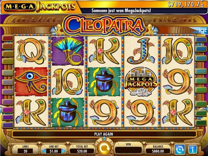 Mega Jackpots Cleopatra - Mobile Slot UK