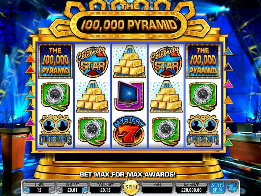 Screenshot of the game: The 100,000 Pyramid