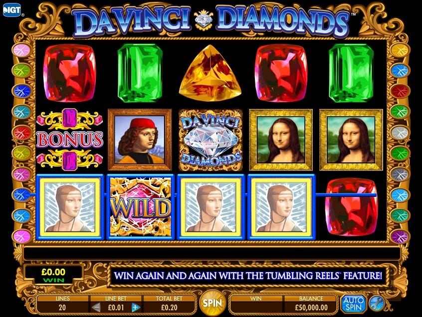 Snapshot from game: Da Vinci Diamonds