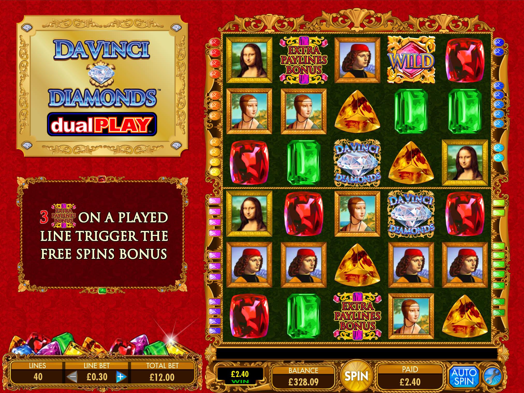 Screenshot of the game: Da Vinci Dual Play