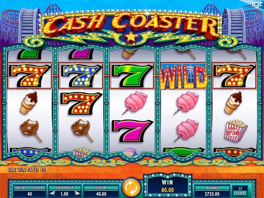 Screenshot of the game: Cash Coasters