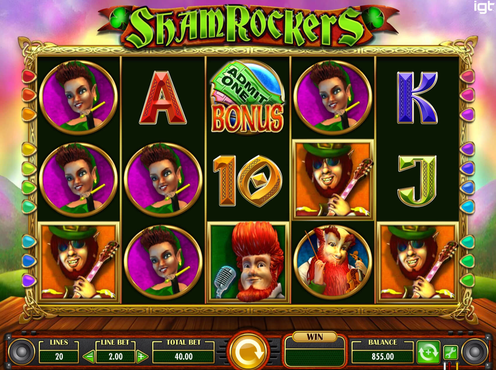 Screenshot from game: Shamrockers