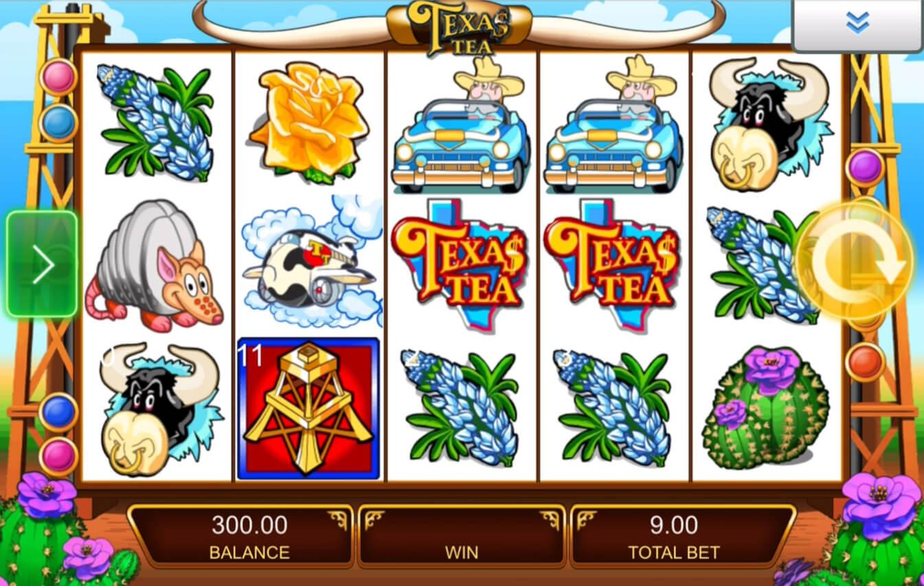 Screenshot of the game: Texas Tea