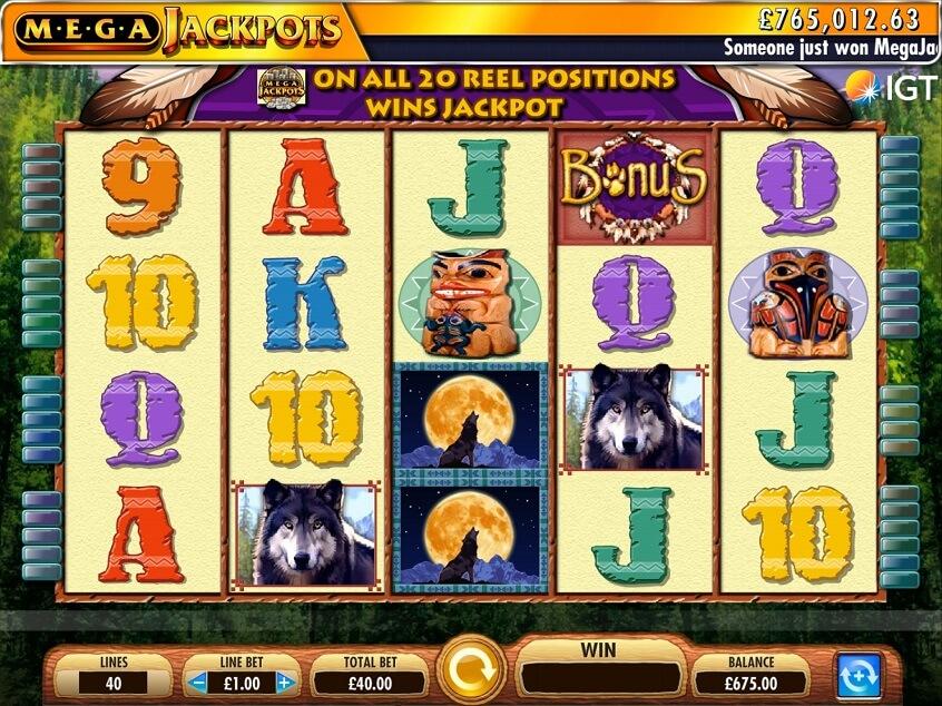 Screenshot of the game: MegaJackpots Wolf Run