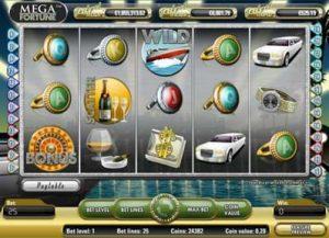 Screenshot of the Mega Fortune slot machine