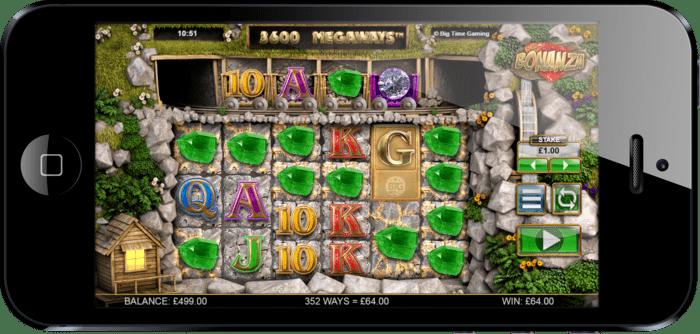 Bonanza Megaways mobile screenshot