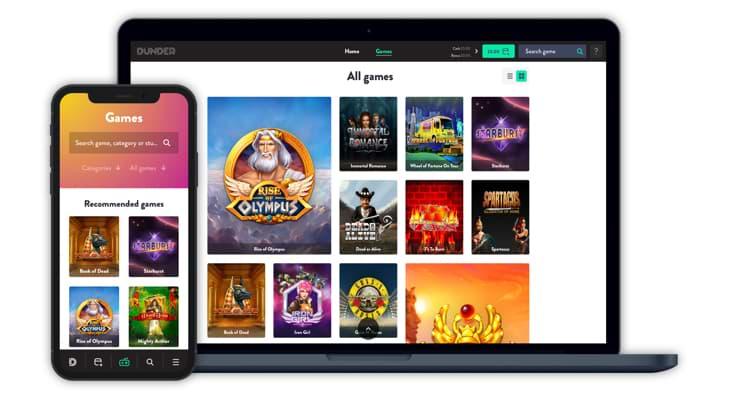 Dunder Casino Is Unique - Mobile & Desktop available