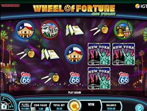 Wheel of Fortune on Tour IGT recent slots machine