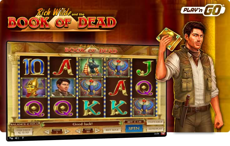 Book of Dead slot by play'n'go