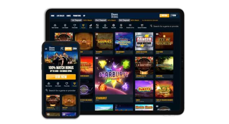 Dream Vegas - Responsive UK Casino