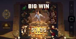 Big win on Jungle Jim and the Lost Sphinx slot machine