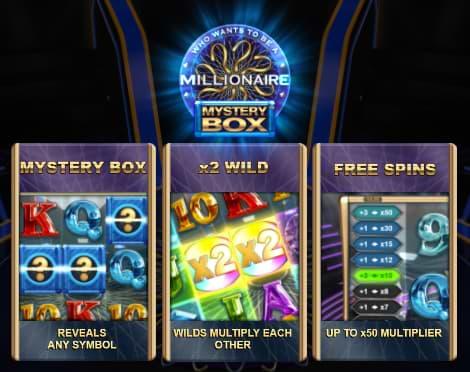 Millionaire Mystery Box slot features
