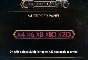 Multiplier panel on Chronos Joker