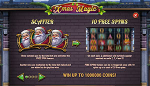 Free spins of Xmas Magic