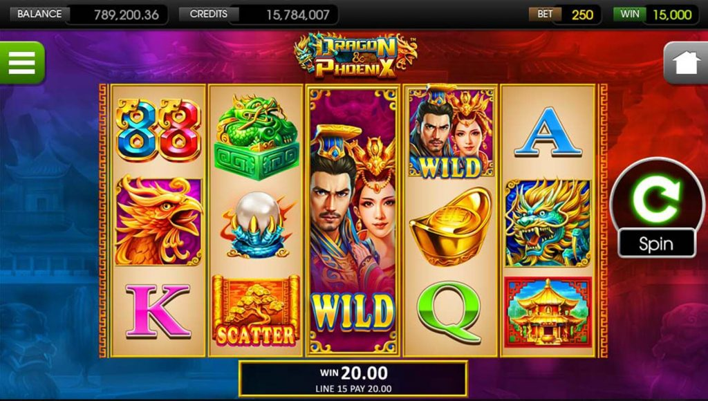 Dragon and Phoenix online slot game