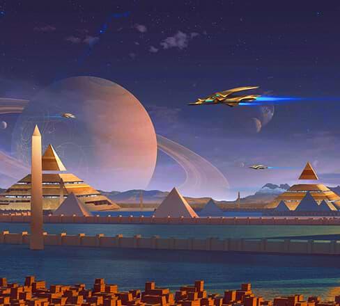 Ankh of Anubis slot game background setting