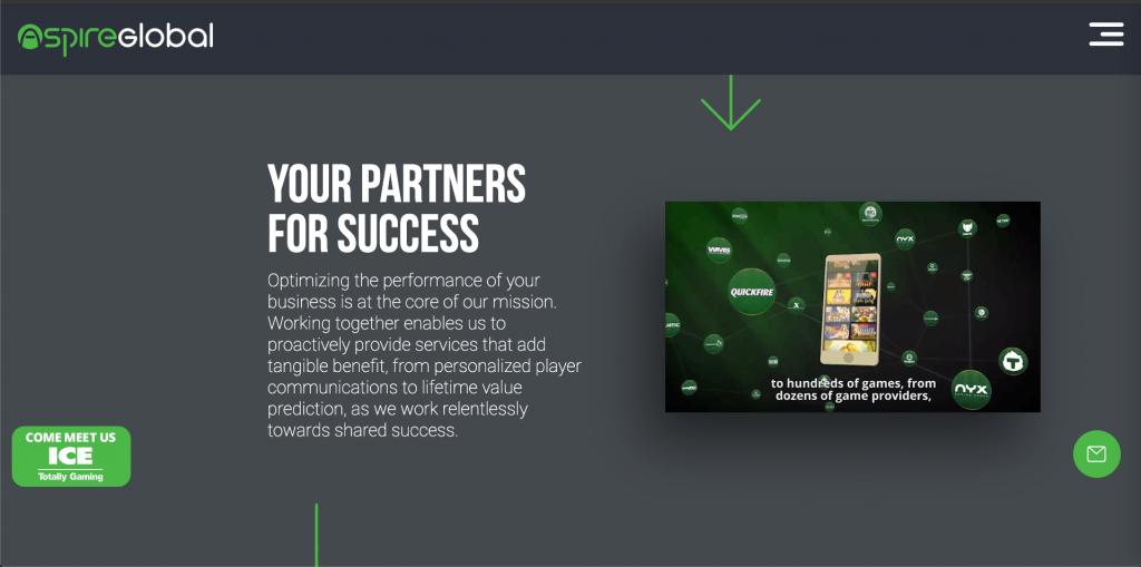 Aspire Global, PlayFrank Casino platform screenshot