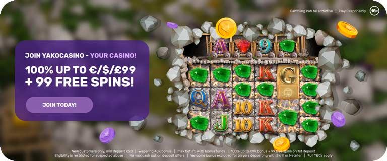 yako casino bonanza welcome bonus