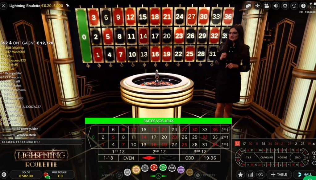 Lightning Roulette Clear and innovative interface