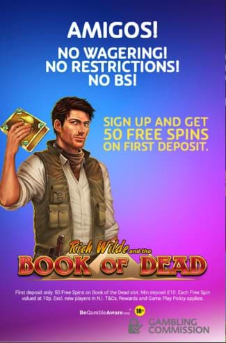 PlayOJO 50 Free Spins No Wagering Welcome Offer