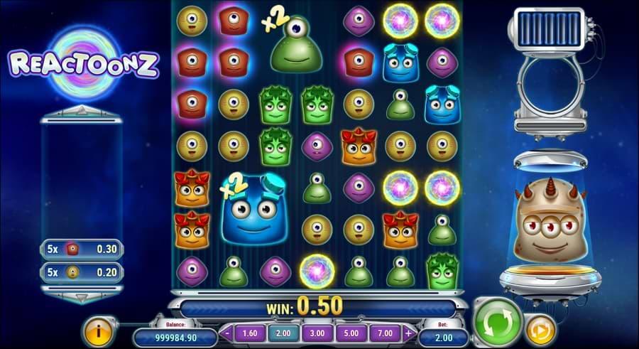 Reactoonz slot by Play'n GO