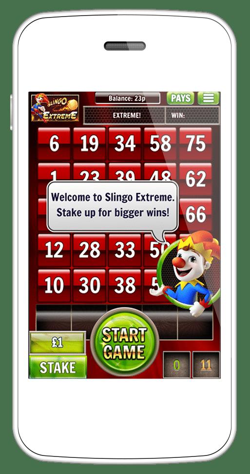 Slingo Extreme mobile screenshot