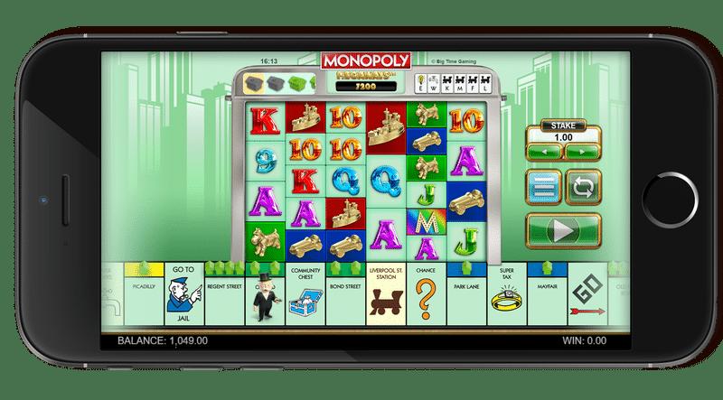 Monopoly Megaways mobile optimized