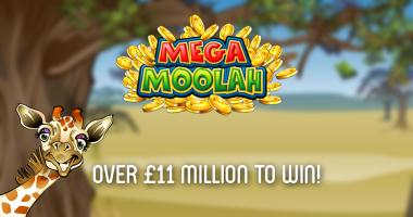 Mega Moolah £11 million+ jackpot to win
