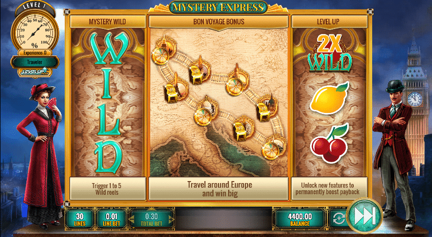 Mystery Express slot features