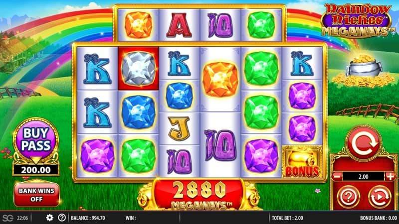 Rainbow Riches Megaways screenshot