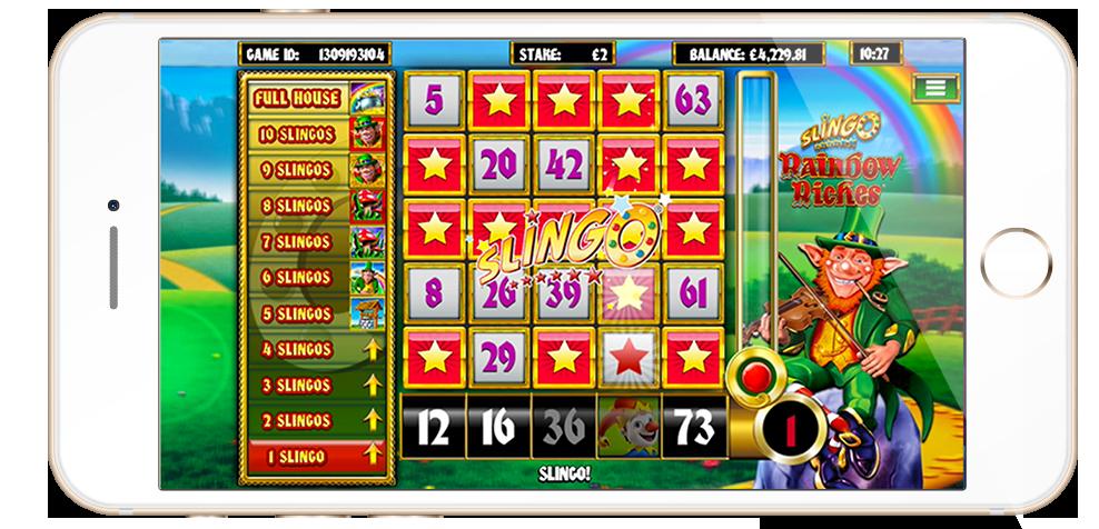 Slingo Rainbow Riches screenshot on mobile