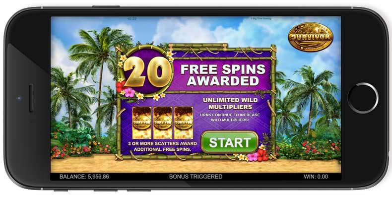 Survivor Megaways™ features mobile screenshot