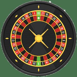 American roulette wheel with double zero