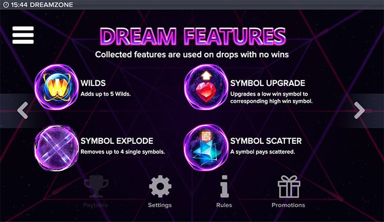 Dreamzone features