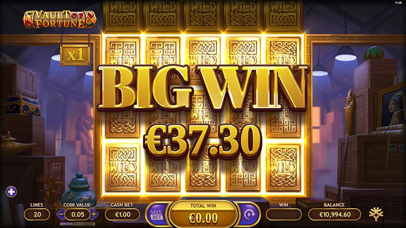 Vault of Fortune Wilds big win