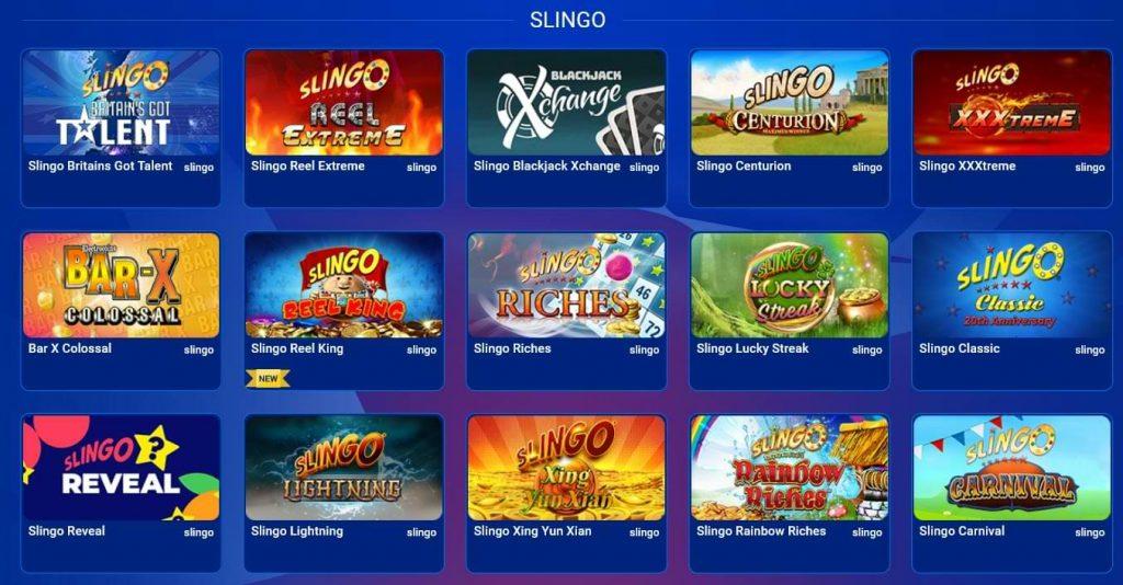 All British Casino Slingo Games