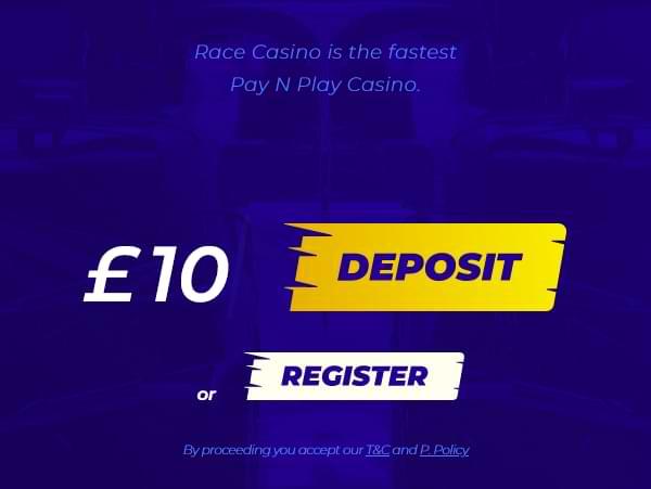 Deposit at Race Casino